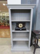 Pale grey painted 4 tier bookshelf