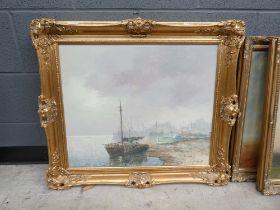 Oil on canvas - maritime scene