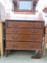 Ewardian mahogany and marquetry bureau