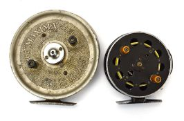 Two fresh water centre pin reels including 'The Maxima Reel' and 'Speedia Fishing Tackle Products'