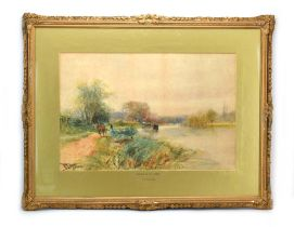 Henry Charles Fox RBA (1860-1925), 'Towpath on the Thames', signed and dated 1903, watercolour,