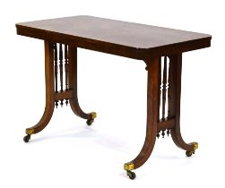 A late 19th/early 20th century rosewood side table,