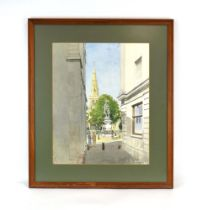 Bernard West, RIBA (20th Century), 'St Paul's Square, Bedford', signed and dated July '87,