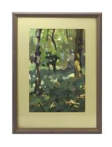 Abigail Edgar (contemporary), 'Woods', signed, dated July 1992 verso, acrylics,