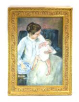 Tom Keating (1912-1984), 'Mother and Child', after Mary Cassatt, signed, oil on canvas,
