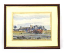 Alice Marquis (20th Century), Bamburgh Castle, signed, watercolour,
