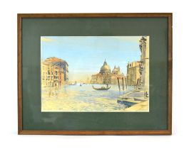 Bernard West, RIBA (20th Century), 'Venice', signed and dated 1953 watercolour,