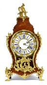 A 19th century French mantel or table clock of impressive proportions,