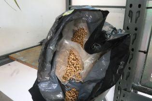 Bag of fishing bait pellets