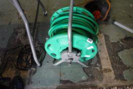 Large hose on reel
