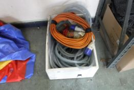 Extension cables and selection of reinforced hose pipe
