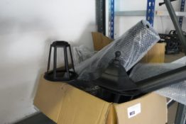 Box of outdoor lantern parts