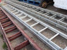 *WITHDRAWN* (1127) Aluminium double extending ladder