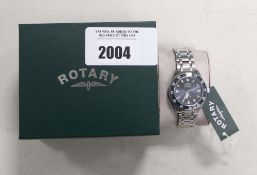 Gents Rotary stainless steel strap wristwatch with automatic movement and box