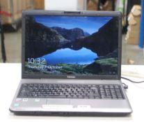 2043 - Toshiba Satellite P300 laptop, intel core 2 duo processor, 2gb ram, 150gb storage, includes