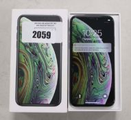 Apple iPhone XS 64gb model A2097 in space grey with box