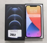 Apple iPhone 12 Pro Max 256gb model A2411 in pacific blue with box
