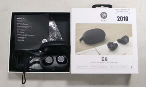 Bang & Olufsen E8 wireless earphones with charging case and box