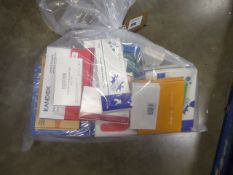 Bag containing quantity of PCR and Rapid Covid-19 test kits