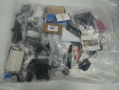 Bag of remote controls, WWAN cards and IT spares