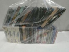 Bag containing quantity of Blu-Ray and DVD films