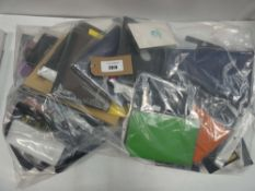 Bag containing quantity of mobile and tablet cases/covers