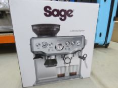 Boxed Sage Barista Express coffee machine