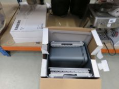 Boxed Ebbebo kitchen in-cupboard bin set and other Ikea kitchenware
