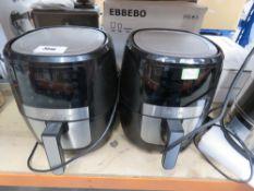2 unboxed Gourmia air fryers
