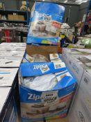 4 boxes of zip lock space bags