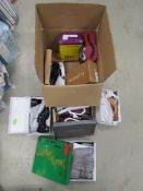 Box of mixed assorted shoes