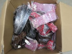 Box of mixed assorted belts