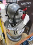 Kitchen Aid standing mixer with 3 attachments and manual