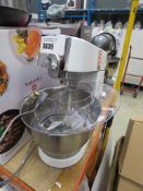 (TN16) Kenwood chef standing mixer with guard plus 3 attachments