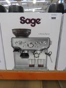 Sage Barista express coffee machine with box