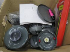 Box containing a Kenwood food processor plus attachments