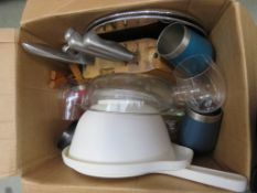 Boxed of mixed assorted kitchen ware