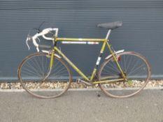 Carlton Vintage racing bike in green