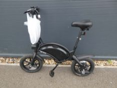 Jetson electric bike in black with power supply