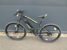Lombardo electric mountain bike in green and black, no power supply
