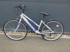 Apollo mountain bike in silver and blue