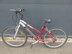 Giant Boulder mountain bike in red and silver