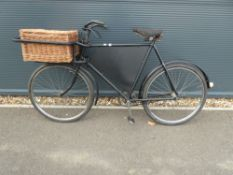 Vintage style butchers cycle with basket