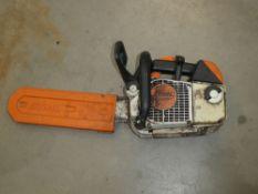 Stihl MS200T petrol powered chainsaw