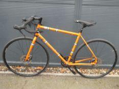 Robinson 'The Light Blue' orange racing cycle