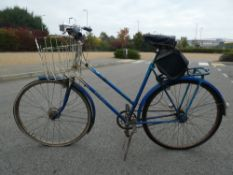 Hercules blue and white vintage cycle