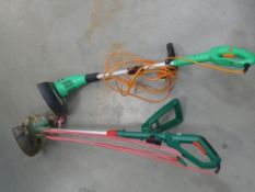 2 electric garden strimmers