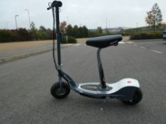 4028 Grey Razor electric scooter with seat