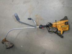 Partner yellow petrol powered strimmer