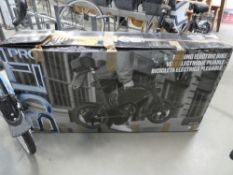 Boxed Jetson Bolt electric cycle with charger